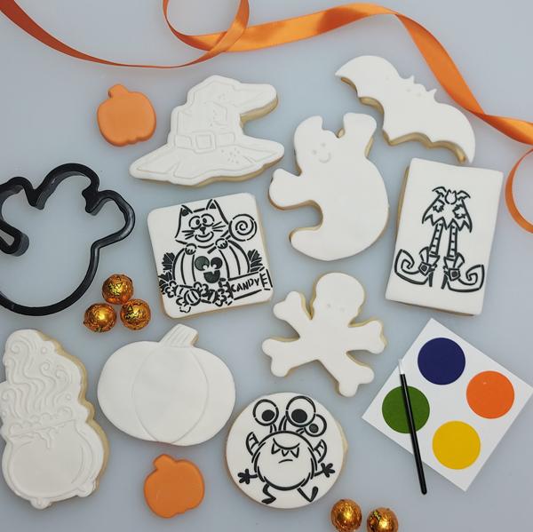 Paint Your Own Halloween Cookies